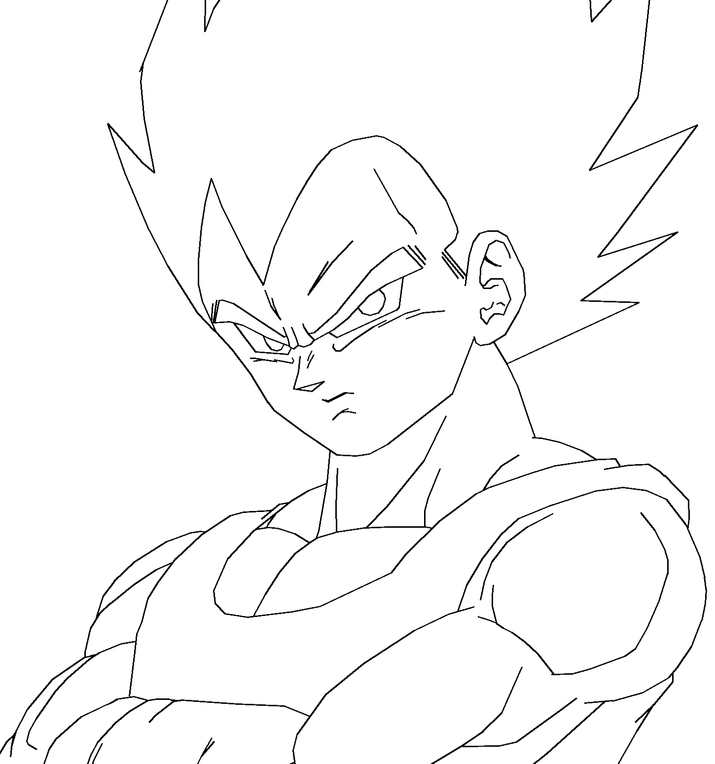 Coloriage de vegeta en couleur - Dessin dragon ball z facile ...